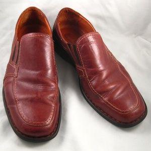 Men's Eur 44 Brown Leather Loafers Slip-On